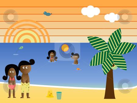 Beach clipart family beach vacation Vacation Beach Clipart American African