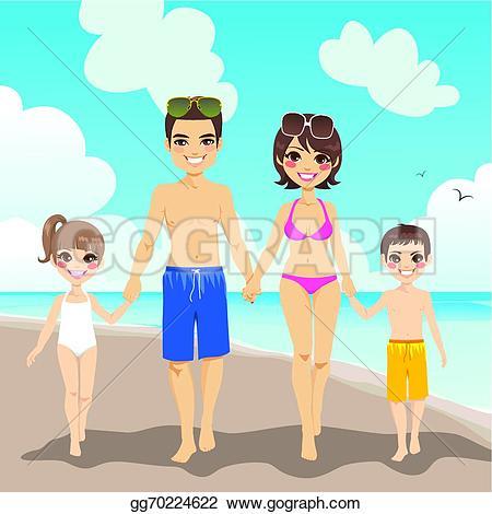 Beach clipart family beach vacation Free Royalty Clip Beach Family