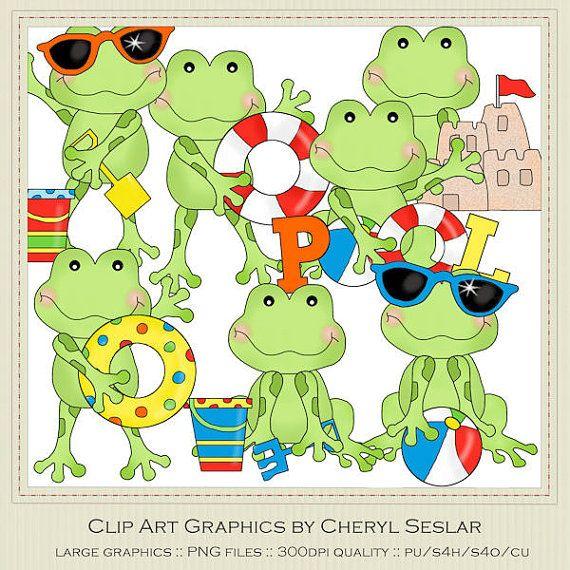 Beach clipart frog Beach by Clip marlodeedesigns best