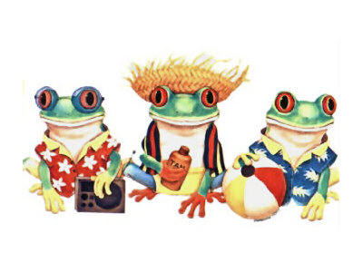 Beach clipart frog Youth clothing: Frog frog tank