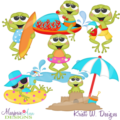Beach clipart frog Files SVG Includes Cutting $6