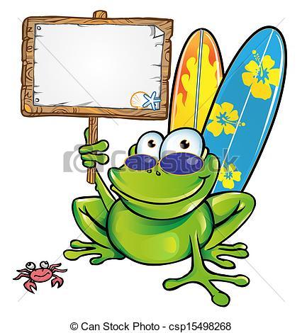 Beach clipart frog Clip summer Art frog