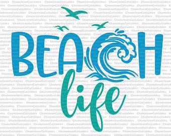 Beach clipart life Decal life svg files beach