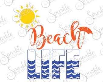 Beach clipart life Digital Hello Summertime drawn Silhouette