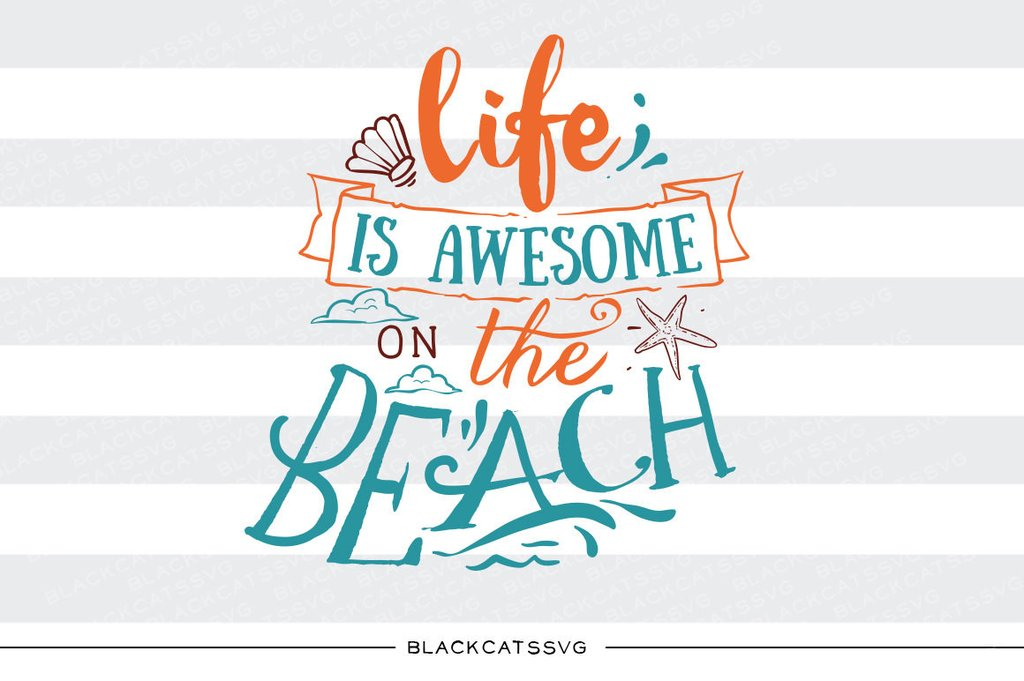Beach clipart life File Beach SVG  Dxf