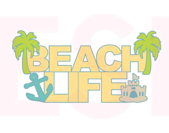 Beach clipart life Beach com Life Quote EPS