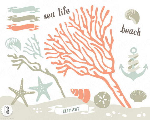 Beach clipart life Art vector beach sea clip