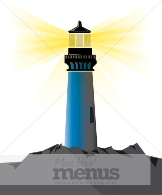 Beacon clipart MustHaveMenus Images Lighthouse & Seafood
