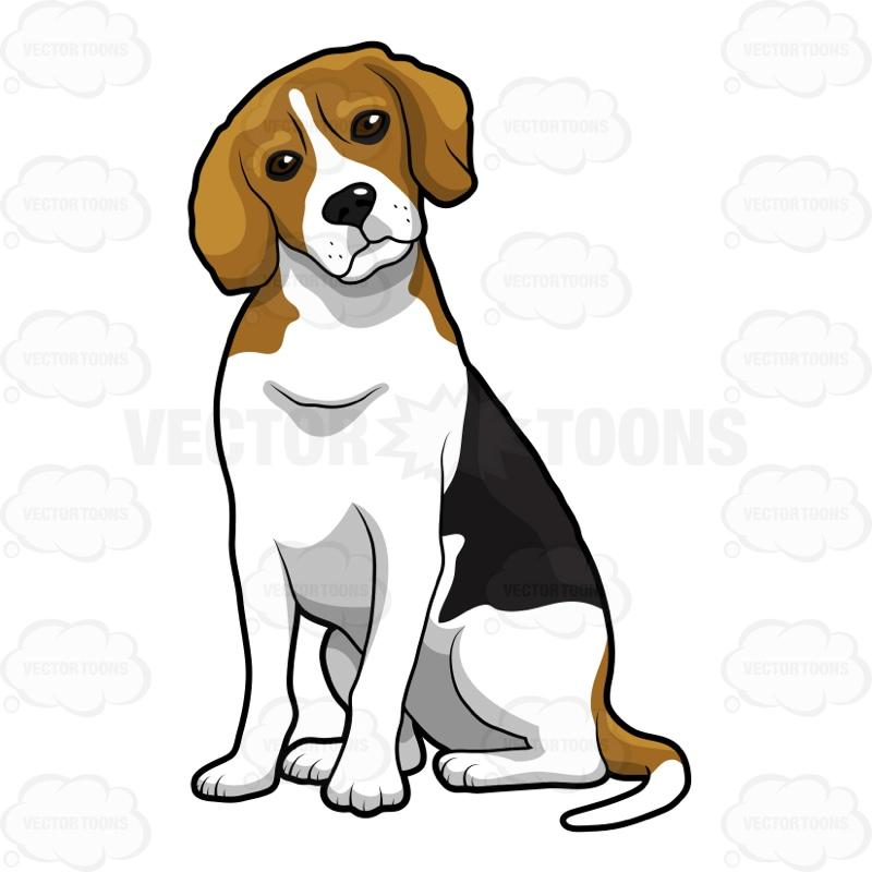 Beagle clipart cute Side One One Sitting Beagle