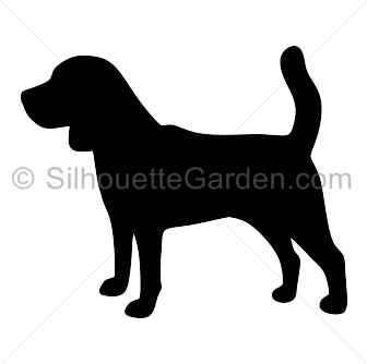 Beagle clipart silhouette Free silhouette of image free