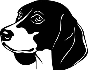 Beagle clipart silhouette Silhouette clipart Beagle collection Etsy