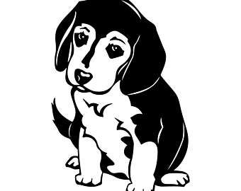 Beagle clipart silhouette Etsy Dog Cdr EPS Beagle