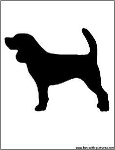 Beagle clipart silhouette Silhouette Inspiration dog image Pinterest