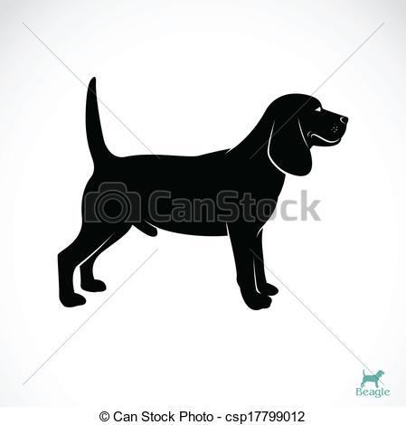 Beagle clipart silhouette White Vector Vector dog Vector