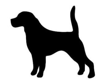 Beagle clipart silhouette Dog Decal Cut Beagle Beagle