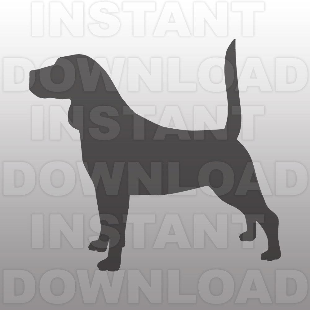 Beagle clipart silhouette SVG SVG SVG Beagle Etsy