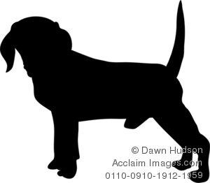 Beagle clipart silhouette Illustration Dog a Clipart Dog
