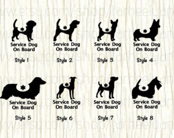 Beagle clipart therapy dog Decal Service board dog Service