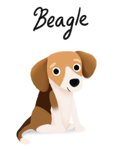 Beagle clipart therapy dog Beagles Beagle 6091 Dog Pinterest