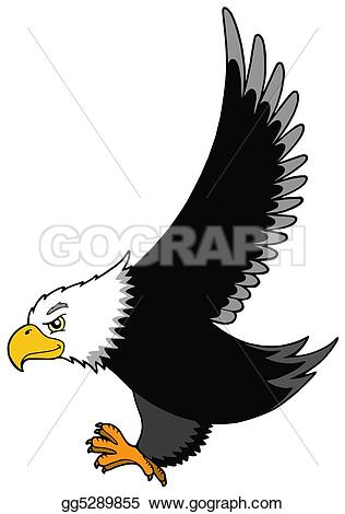 Beak clipart peacock Flying isolated  american eagle