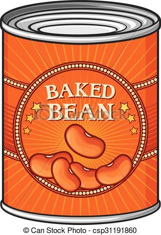 Bean clipart baked bean Clip Vector baked of beans