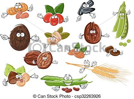 Seed clipart wheat seed Wheat Illustration nuts beans csp32263926