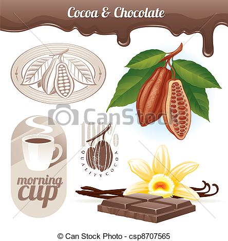 Cacao clipart Csp8707565 and of beans Vector