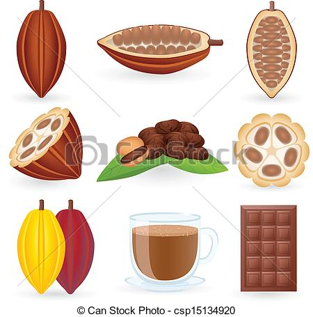 Cacao clipart dry bean Icon  Vector csp15134920 illustration