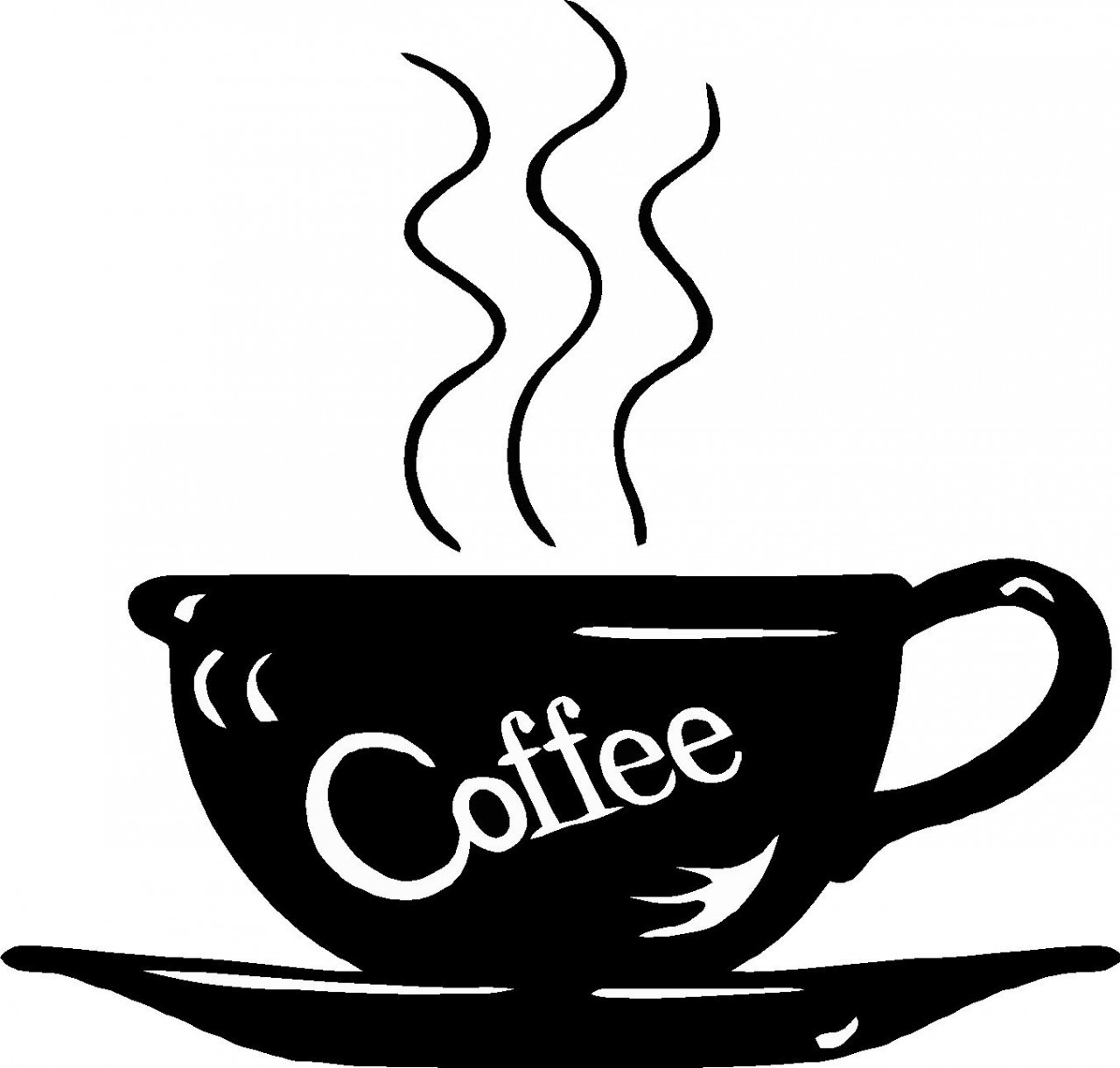 Coffee clipart black and white Coffee Art Free Free Clip