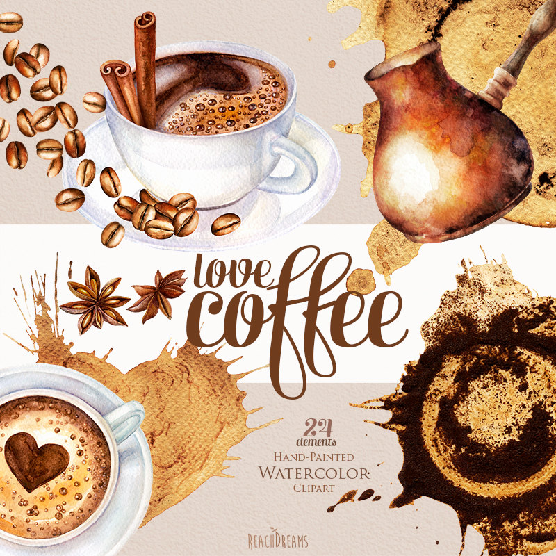 Cappuccino clipart gambar Coffee this Watercolor clipart cup