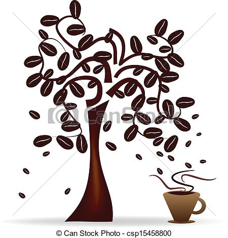 Beans clipart coffee tree Vector Design Abstract Vector coffee