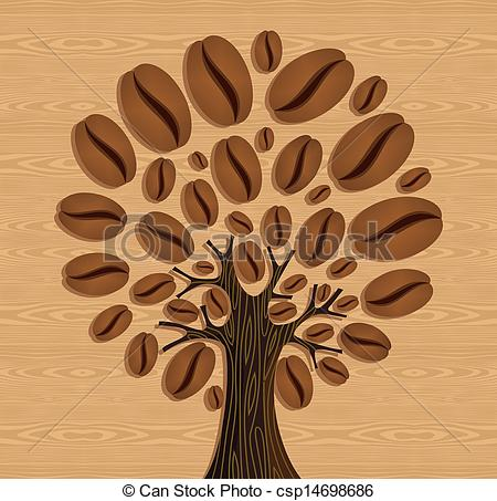 Beans clipart coffee tree Coffee seamless wood of tree