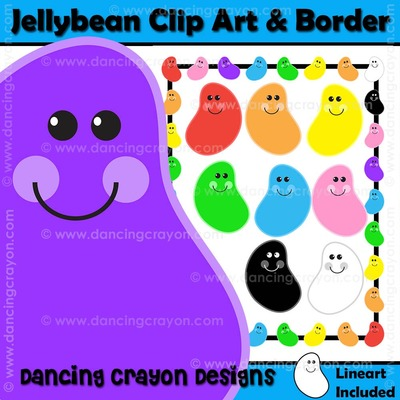 Bean clipart colorful Jellybean Jellybean set clipart Colorful