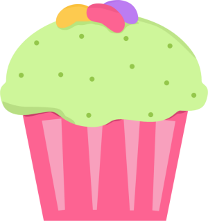 Muffin clipart green cupcake Cupcake Art Images Jelly Jelly