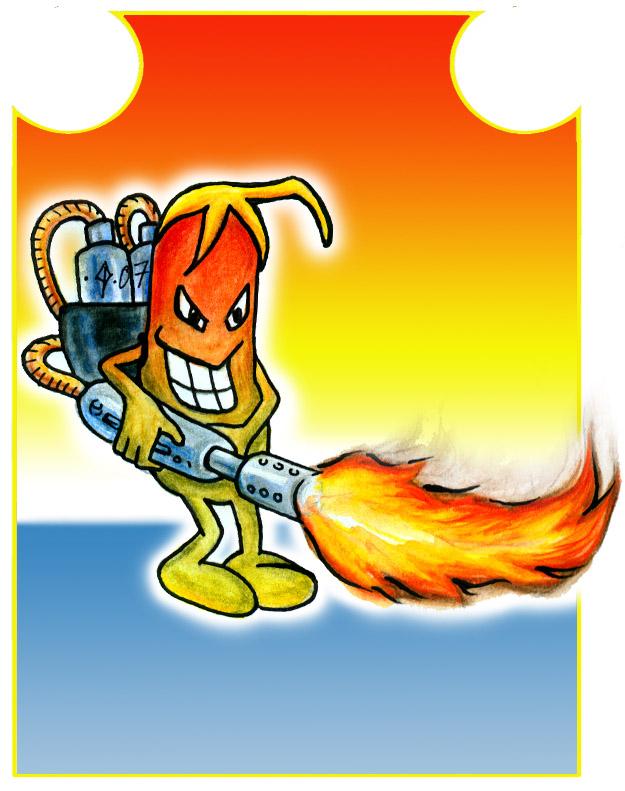 Bean clipart fire Jantiff on DeviantArt Fire Bean