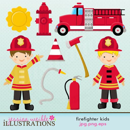 Bean clipart fire Rescue 17 Firefighter Clipart and
