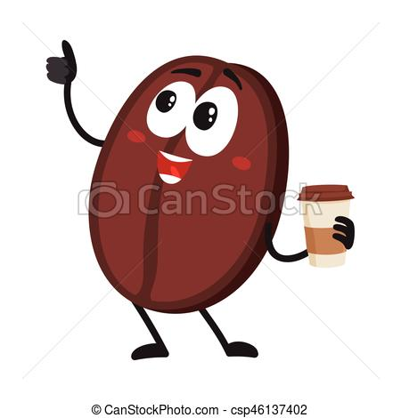 Bean clipart funny With thumb cup Vector csp46137402