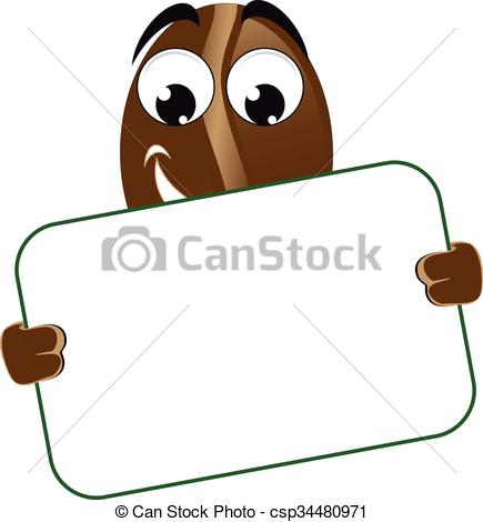Bean clipart funny Of of poster csp34480971 bean