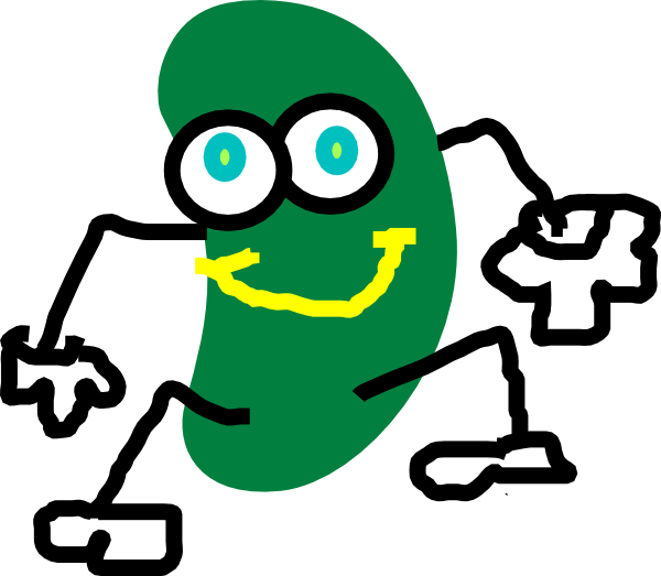 Bean clipart green jelly Clip at  com vector