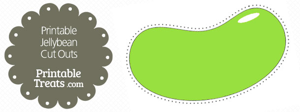 Bean clipart green jelly Jellybean Outs Printable Treats Cut
