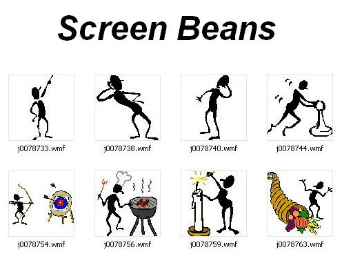 Beans clipart ms word Bean Figures Screen Microsoft Clipart