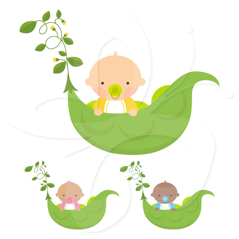 Bean clipart sweet pea Baby Clipart Pea Art Collection