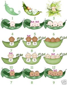Bean clipart sweet pea Shower Pod Baby Peas by