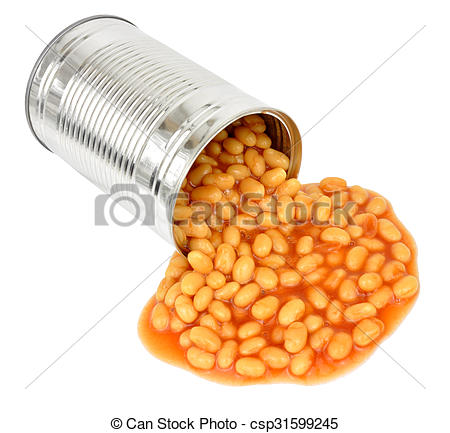 Bean clipart tin bean Of Can Stock Of Pouring