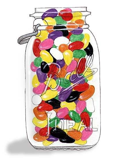 Beans clipart jelly bean jar Art Jelly for result art