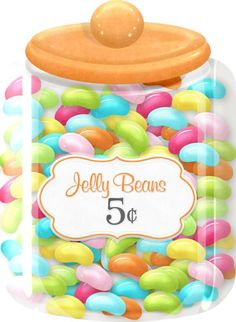 Jelly Bean clipart pile Jar JELLY BEANS Candy Clip