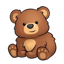 Furry clipart brown bear #1