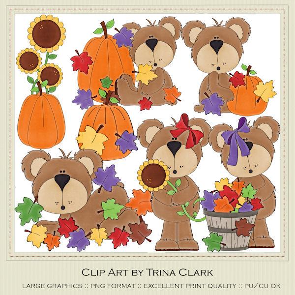 Bear clipart autumn #12