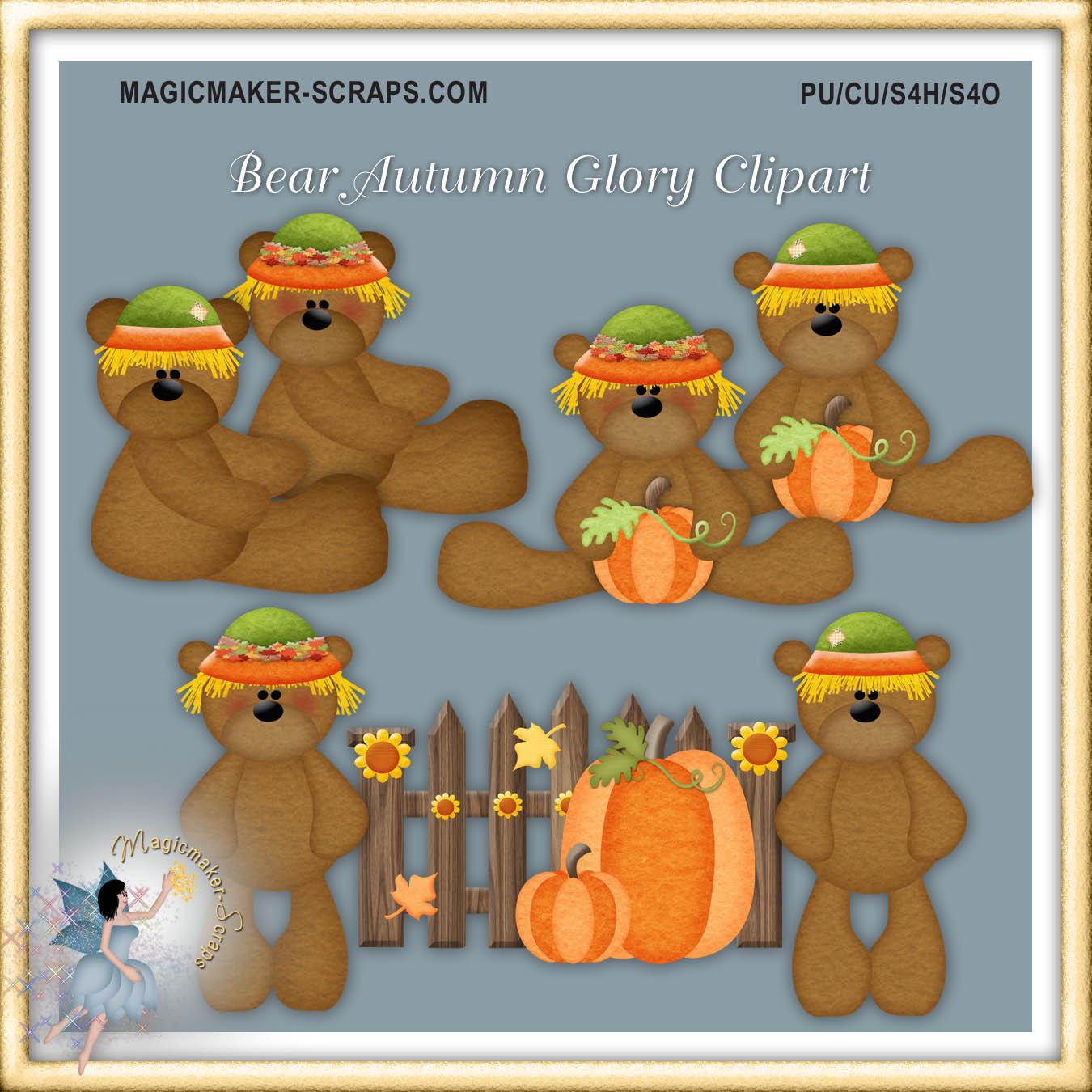 Bear clipart autumn #7