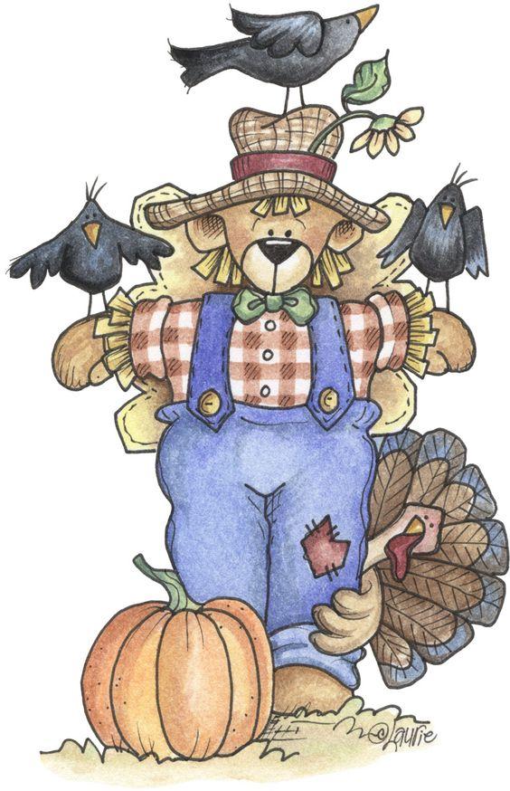 Bear clipart autumn #13